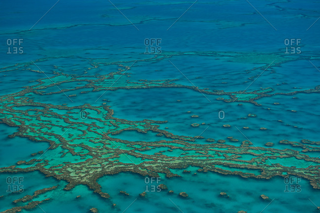 Aerial view of the Great Barrier Reef- Queensland- Australia