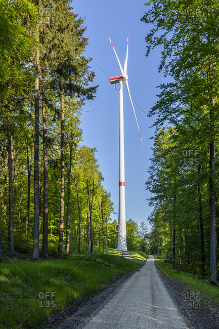 Wind wheel in the Swabian Forest- Rems-Murr-Kreis- Germany