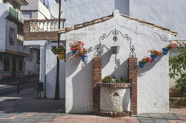 Typical Andalusian Spanish white villages. Typical architecture. Holidays. Travel. La cala de Mijas