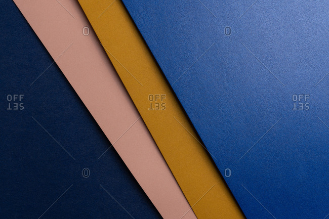 Layout of colorful cardboard sheets in pastel shades