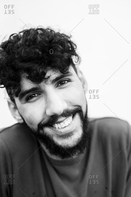 Portrait of smiling man