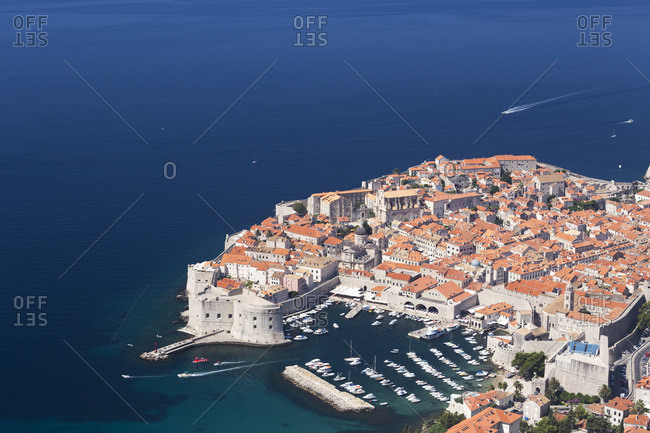The harbor in Dubrovnik, Croatia