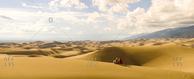 Couple at Great Sand Dunes NP