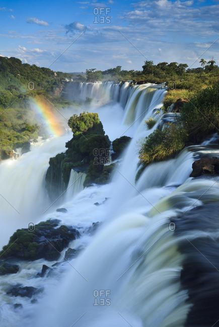 A rainbow at Iguazu Falls.