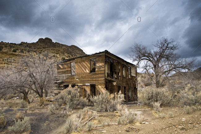 An old deserted building in Sego, Utah.