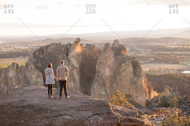 Engaged Couple at Smith Rock in Oregon