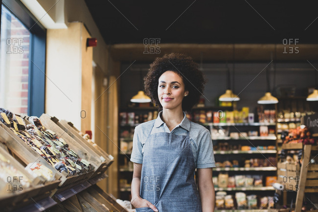 Portrait of small business owner looking to camera