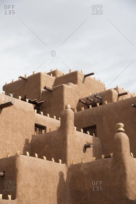 Traditional adobe buildings in Santa Fe, New Mexico