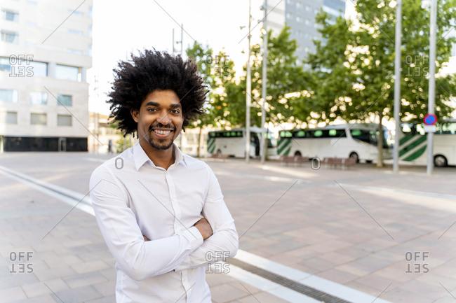 Portrait of confident businessman in the city- Barcelona- Spain