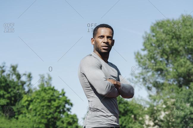 Portrait of sportsman