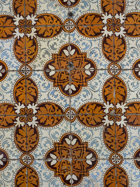 Detail of a tiled house front- Lisbon- Portugal