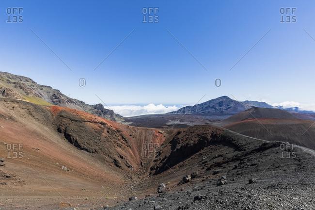 Crater Kalu'uoka'o'o- Sliding Sands Trail- Haleakala volcano- Haleakala National Park- Maui- Hawaii- USA