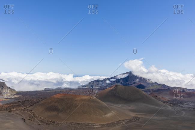 Craters Kama?oli?i- Pu?uom'ui- Pu?uopele and Kamohoalii- Sliding Sands Trail- Haleakala volcano- Haleakala National Park- Maui- Hawaii- USA