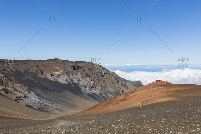 Sliding Sands Trail- Haleakala volcano- Haleakala National Park- Maui- Hawaii- USA