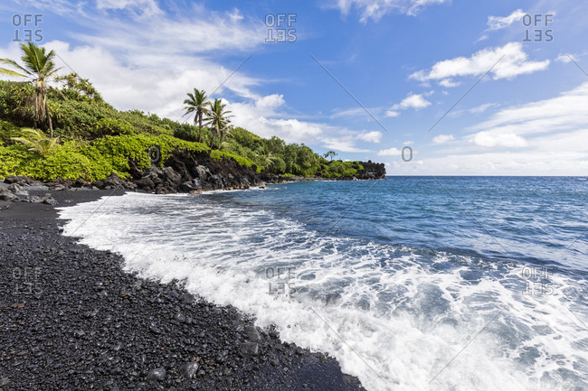 Black Sand Beach- Waianapanapa State Park- Maui- Hawaii- USA