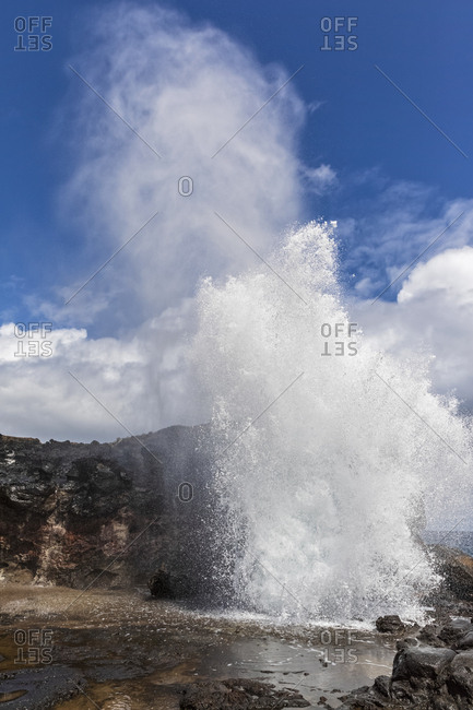 Nakalele Blowhole- West Maui Mountains- Maui- Hawaii- USA