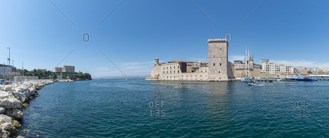 France- Bouches-du-Rhone- Marseille- Old pier- Fort Saint-Jean