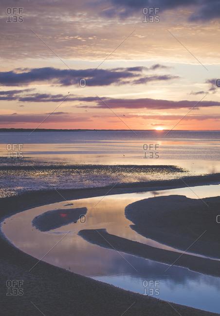 Sunrise over North Sea- Sylt- Germany