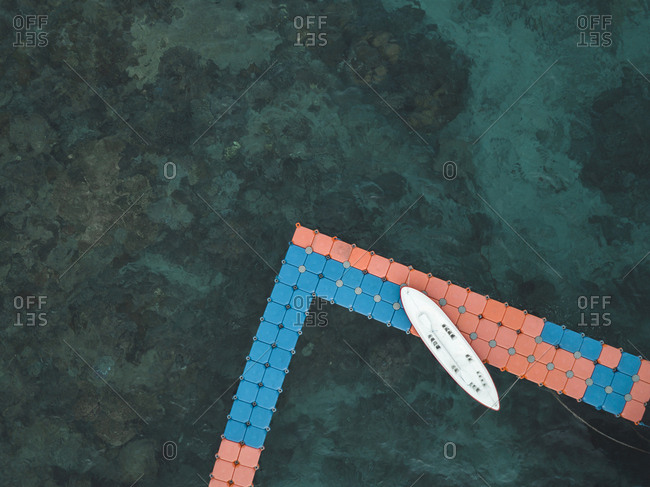 Stand Up Paddling- Aerial view of pier in the morning- Nusa Penida island- Bali- Indonesia