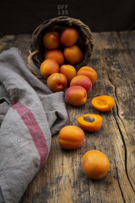 Apricots- dark wood