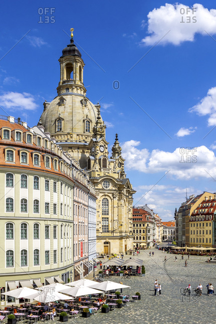 View to Church of Our Lady- Dresden- Germany