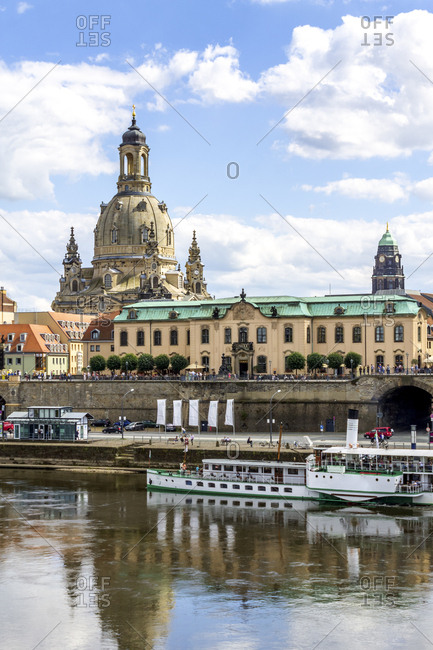 View to Church of Our Lady with Sekundogenitur in the foreground- Dresden- Germany