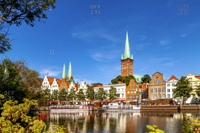 View of Lubeck at TRve river- Germany