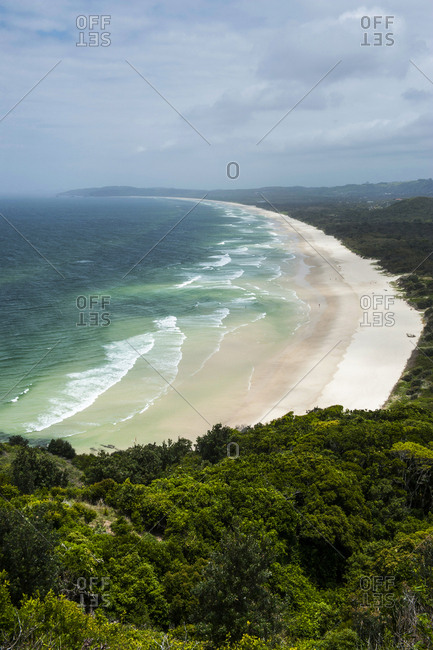 Beach south from the Lighthouse- Byron Bay- New South Wales- Australia