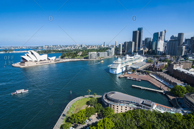 Outlook over Sydney with Opera House- New South Wales- Australia