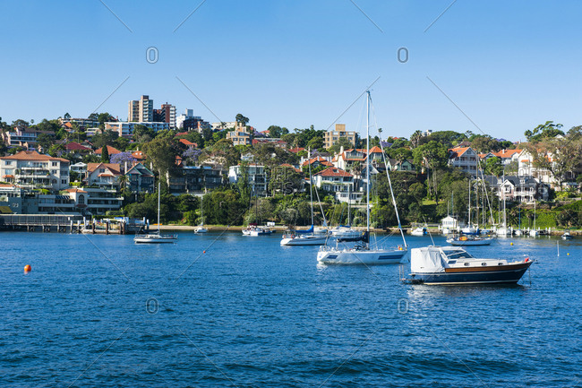 Sailing boats in the harbour of Sydney- New South Wales- Australia