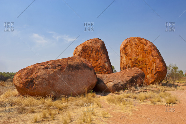 Granite boulders in the Devil's Marbles Conservation Reserve- Northern Territory- Australia