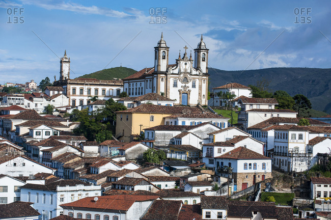View of the colonial town of Ouro Preto- Minas Gerais- Brazil