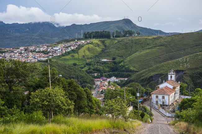 Mountains at the colonial town of Ouro Preto- Minas Gerais- Brazil