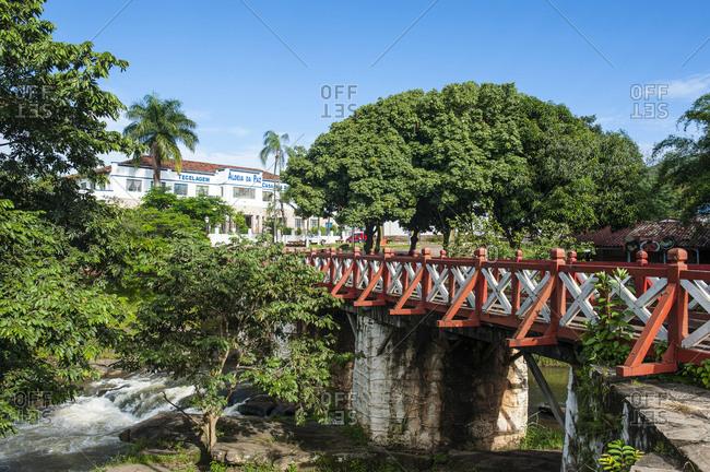 Bridge crossing the Almas river in Pirenopolis- Goias- Brazil