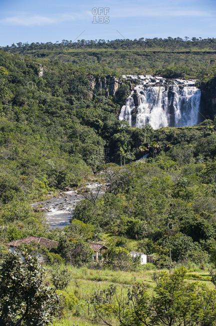 Corumba waterfalls near Pirenopolis- Goias- Brazil