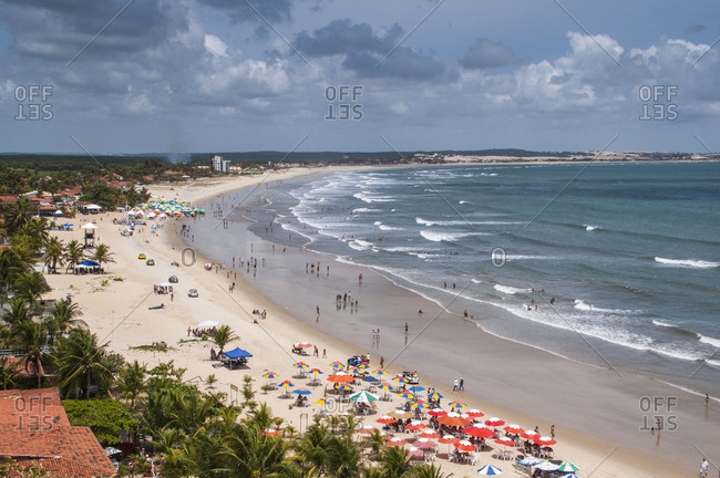 Beautiful beach below the sand dunes of Natal- Rio Grande do Norte- Brazil