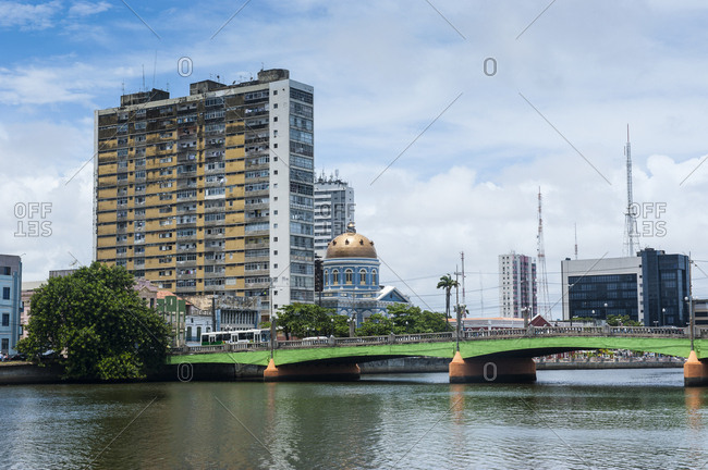 Bridge at the historical waterfront in Recife- Pernambuco- Brazil
