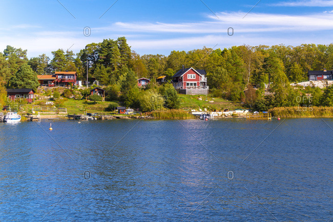 Houses at the Archipelago near Stockholm- Sweden