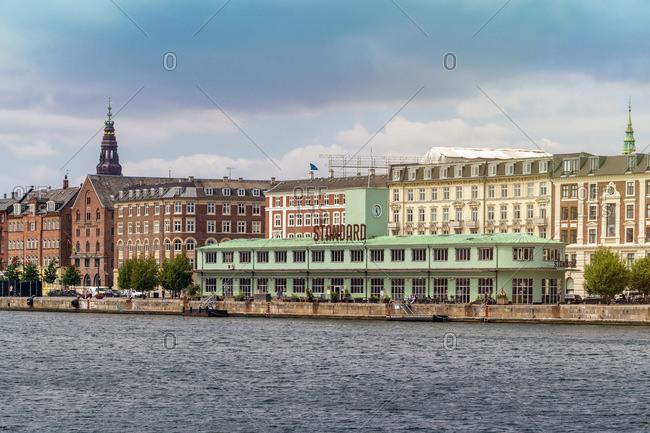 Havnegade with Havnepromenade and the Standard restaurant seen from Inderhavnbroen bridge- Copenhagen- Denmark