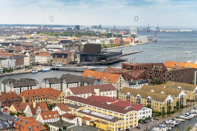 View of Christianshavn- Nyhavn and the Royal Danish Playhouse- Copenhagen- Denmark