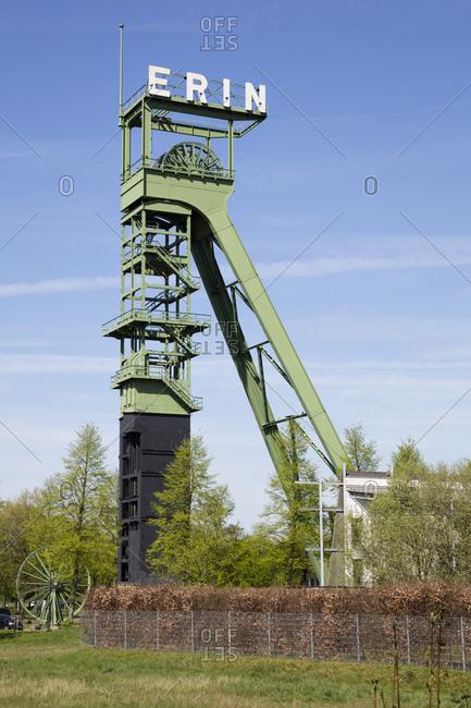 Germany- North Rhine-Westphalia- Castrop-Rauxel- Headframe- former Erin Colliery
