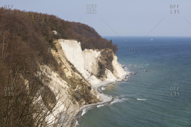 Chalk cliff- Jasmund National Park- Ruegen- Germany