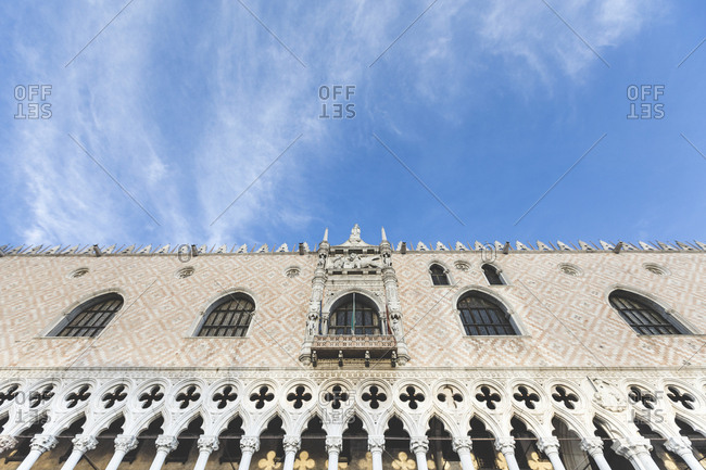 Facade of Doge's Palace- Venice- Italy