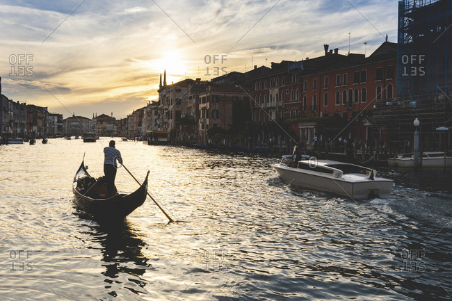 Canal Grande at sunset- Venice- Italy
