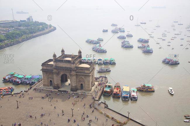 The India gate monument by seaside, Mumbai, India
