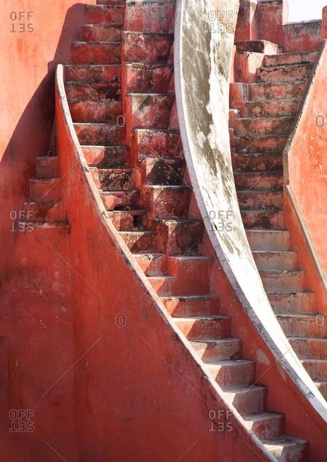 Staircase at the Jantar Mantar Astronomical Park, New Delhi, India