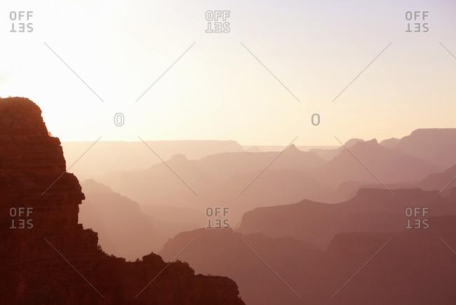 Grand Canyon at sunset, Arizona, USA