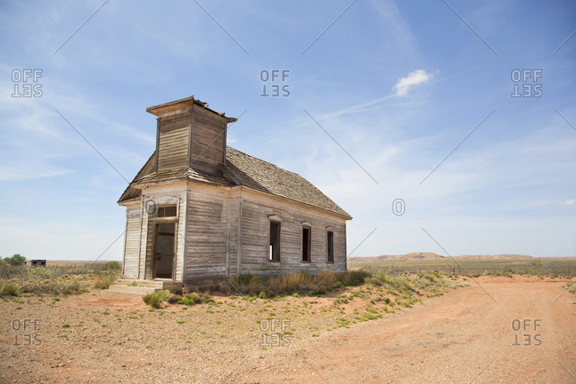 An abandoned church in West Texas, USA