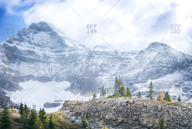 Mount Biddle in British Columbia under snow
