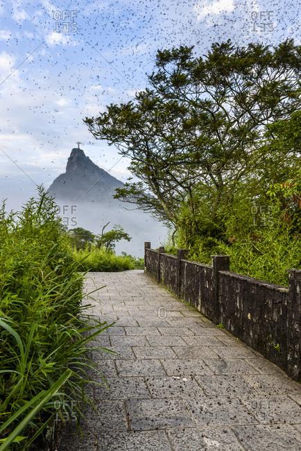 The Redeemer Statue On Corcovado Mountain In Rio De Janeiro, Brazil